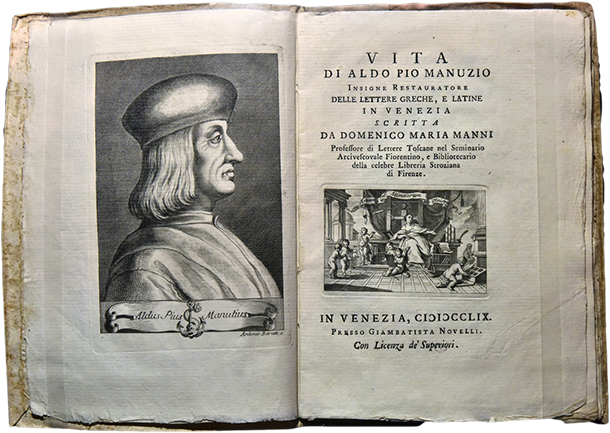 Aldus Pius Manutius born 1449 was an Italian humanist, scholar, educator, and the founder of the Aldine Press.